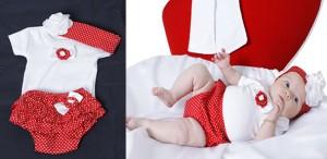 Roupas de bebe moranguinho