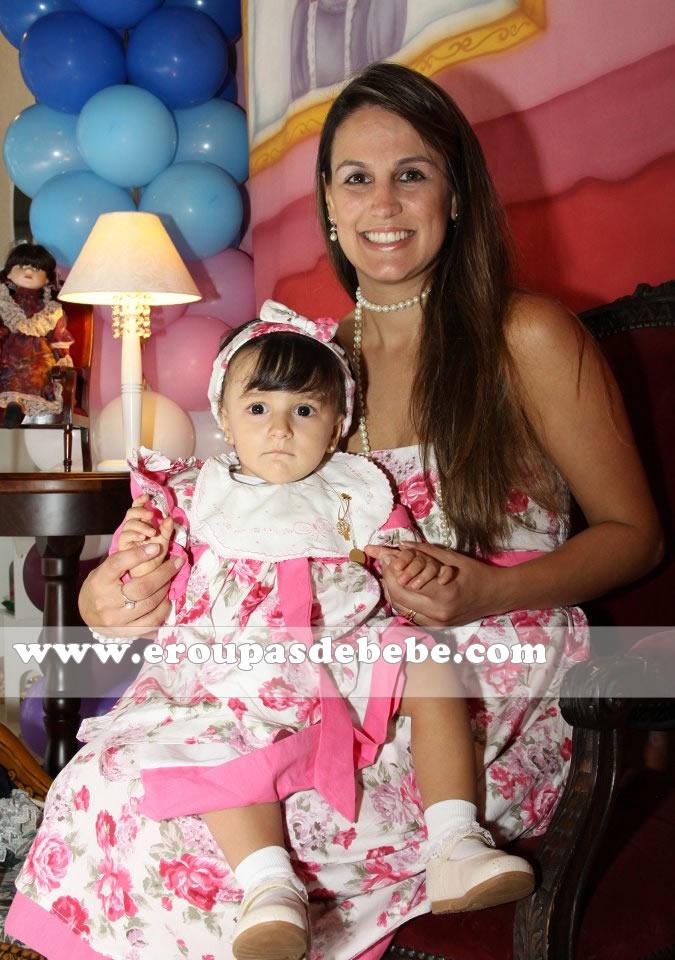 vestido infantil e adulto