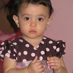 vestido marrom com rosa festa 1 aninho