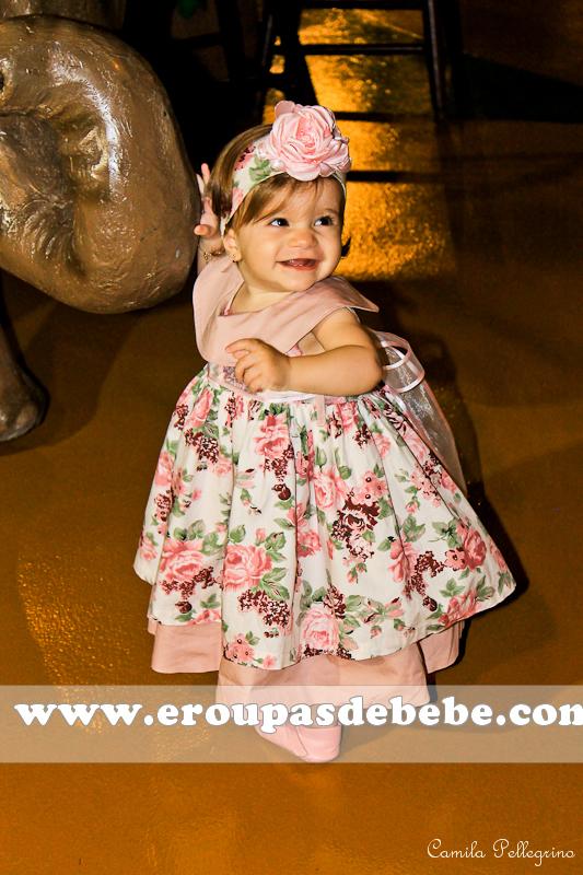 vestido infantil rosa bebe