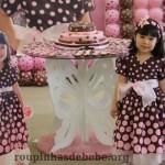 vestido marrom com rosa infantil 1 ano