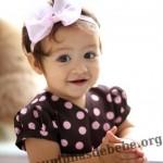 vestido marrom com rosa infantil