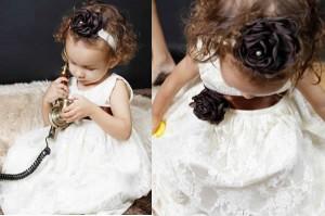 vestidos infantis branco de renda