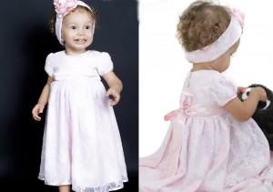 vestidos infantis de renda