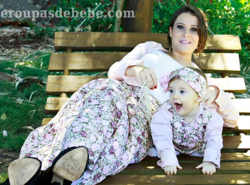 vestido infantil mamae e bebe iguais