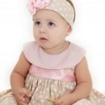 roupas de bebe floral com bege