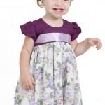 vestido infantil lilas