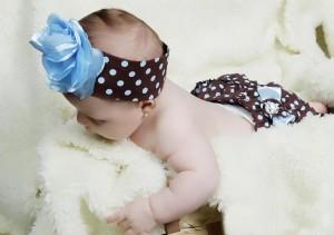 vestidos infantis menina azul poa