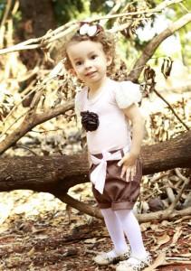 vestido infantil com blusa e bermuda