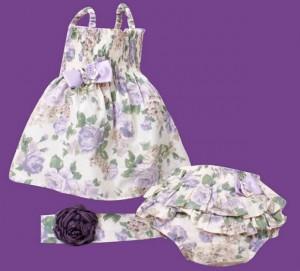 vestidos infantis menina floral lilas
