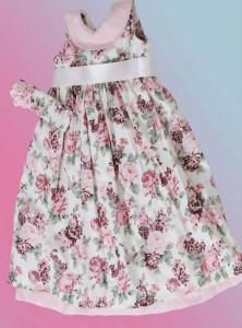 lindo vestido infantil floral rosa