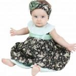 roupas de bebe vestido floral verde