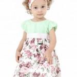roupas de bebe vestido floral