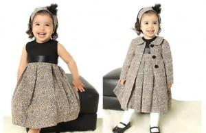 vestidos infantis para festa moda inverno