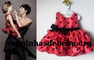 vestido de bebe vermelho HM