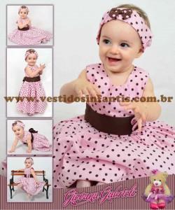 moda infantil vestido festa