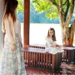 roupas mae e filha floral bebe