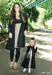 roupas mae e filha preto