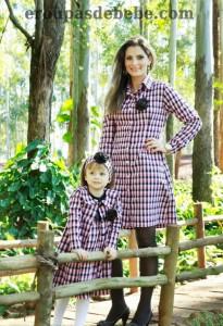 roupas mae e filha xadrez