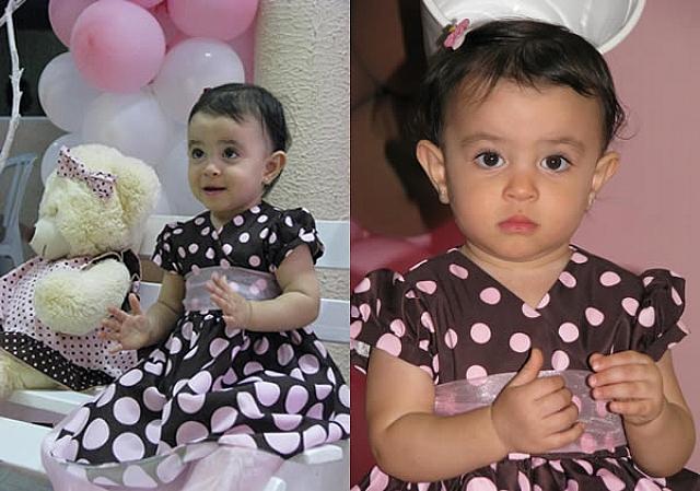 festa marrom e rosa infantil da Giovanna 1 ano