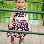 vestido para bebe rosa e marrom
