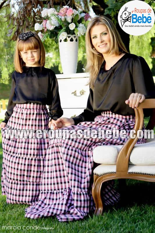 Vestido Mãe E Filha E Roupas De Bebê