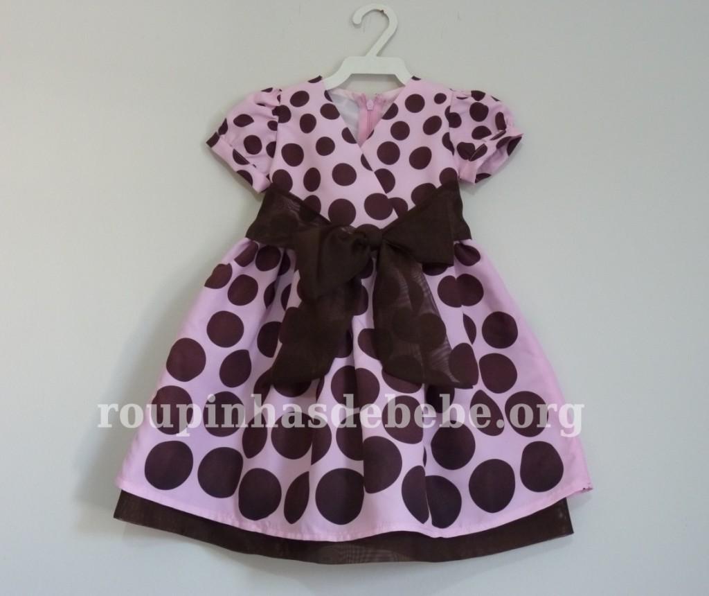 vestidos minnie rosa e marrom