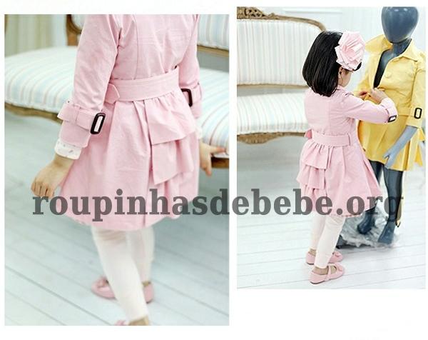 casacos rosa infantil