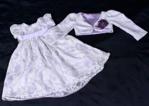 roupas de bebe femininas cetim com renda