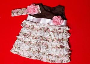 roupas de bebe femininas vestido babados