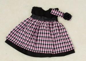 roupas de bebe femininas xadrez com preto