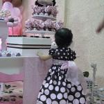 Giovanna - costas - vestido marrom e rosa