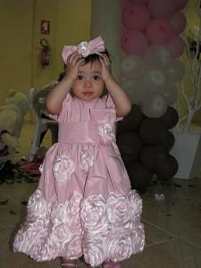 Giovanna e vestido rosa bebe