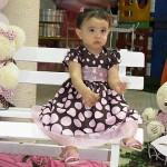 Giovanna - vestido marrom e rosa