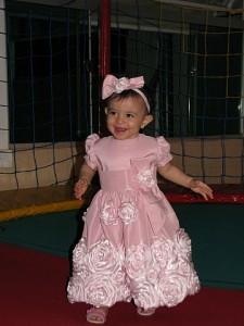 Giovanna vestido rosa flores
