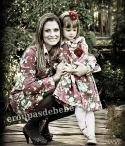 roupas mãe e filha floral