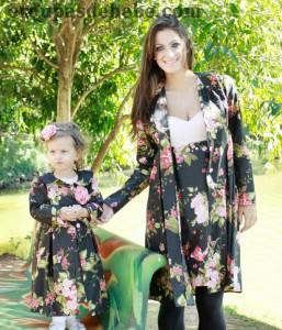 moda infantil menina e mamae