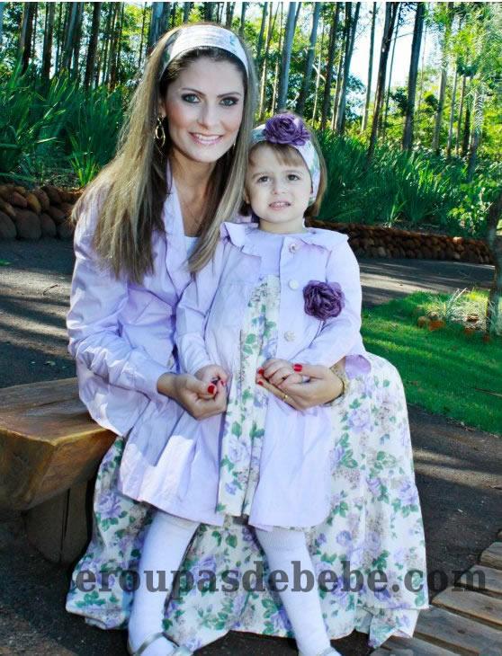 moda mãe e bebe floral