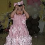 vestidos para bebe rosa flores