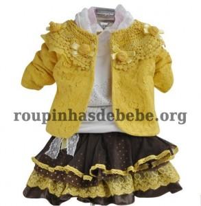conjunto amarelo inverno infantil