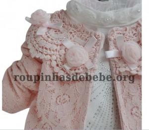 conjunto casaco e blusa inverno infantil