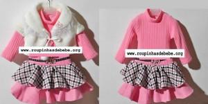 conjunto rosa inverno infantil