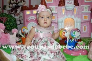 moda infantil vestido bebe floral