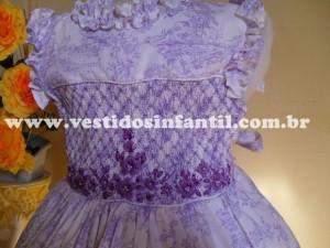 moda infantil vestido bordado