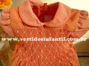 moda infantil vestido bordado a mao