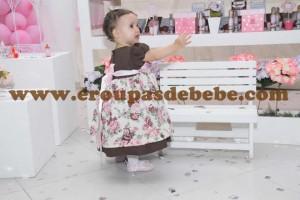 moda infantil vestido floral