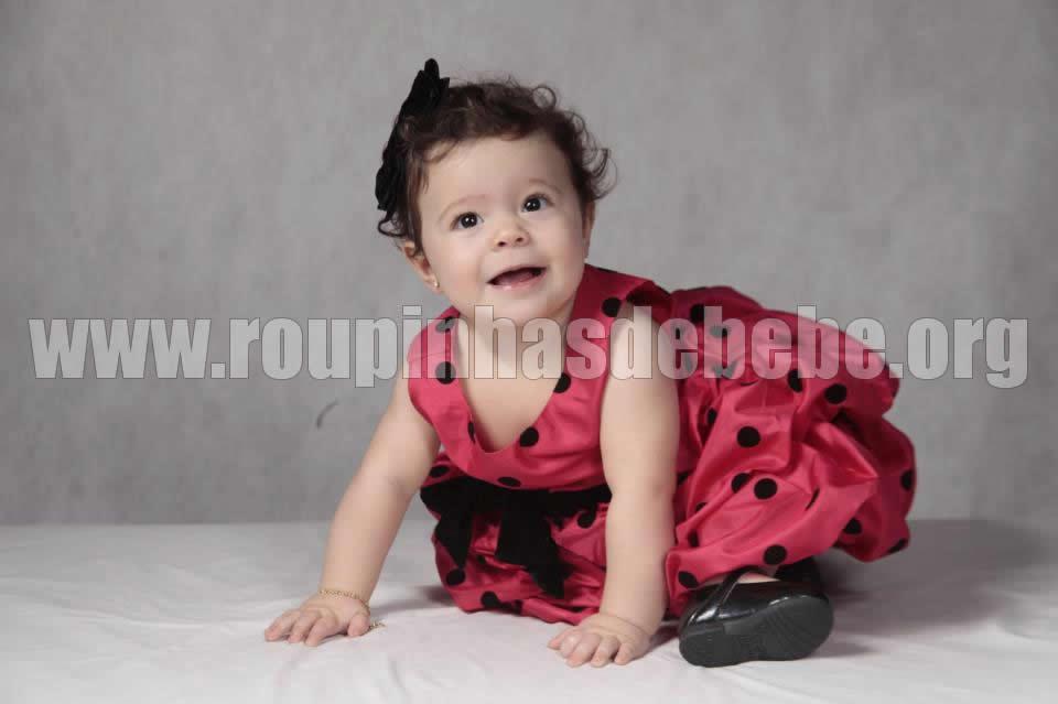 vestido de bebe da joaninha