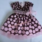 vestidos para bebe marrom e rosa