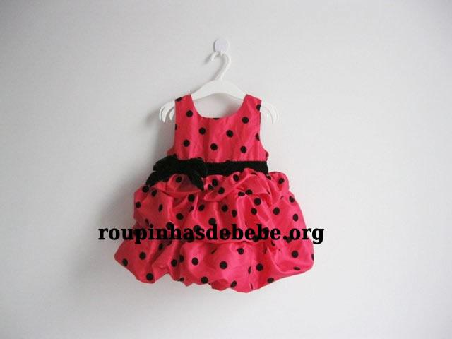 vestido vermelho infantil moranguinho