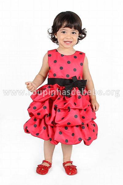 vestido moranguinha infantil